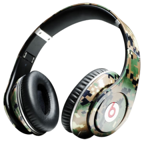 Monster Headphones Beats By Dr Dre Studio High Performance Green Camouflage