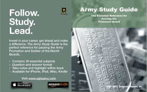 Army Study Guide Poster Horizontal